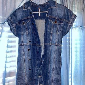 Free People Denim Shirt Dress